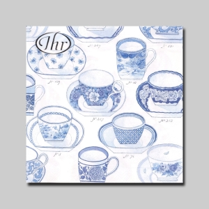IHR냅킨/종이냅킨 Collection of Cups White Blue