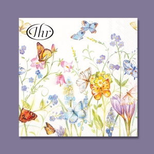 IHR 런치냅킨 Butterflies and Blossoms (L727590)